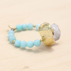 The Ashlen - Semi-precious and Gold Plated Druzy Bracelet