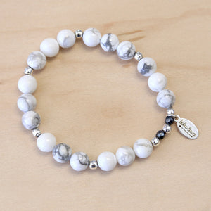 The Kendra -  White Howlite Bracelet