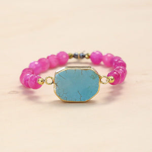 The Kelsey - Semi-precious and Gold Plated Turquoise