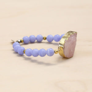 The Caroline - Semi-precious and Gold Plated Druzy Bracelet