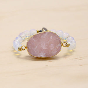 The Lexi - Semi-precious and Gold Plated Druzy Bracelet