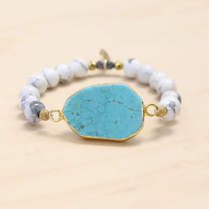 The JoJo - Semi-precious and Gold Plated Turquoise