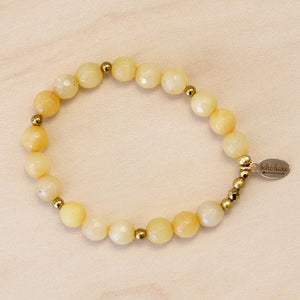 The Phoebe - Yellow Jade Bracelet