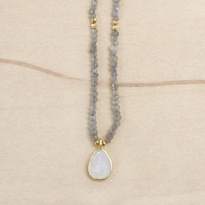 The Hadley - Labradorite & Clear Quartz Choker Necklace