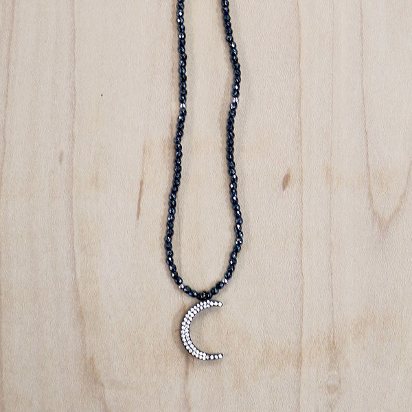 The Luna - Gunmetal Choker Necklace