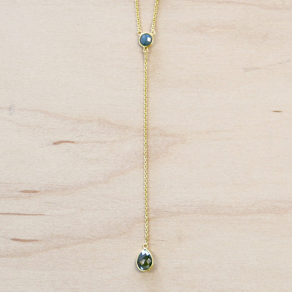 The Kayla - Gold & Labradorite Choker Necklace