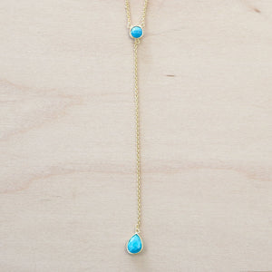 The Kayla - Gold  & Turquoise Choker Necklace
