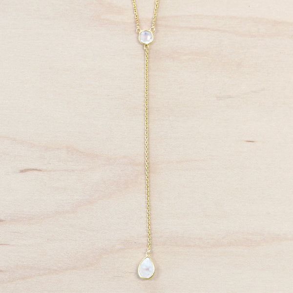 The Kayla - Gold & Moonstone Choker Necklace