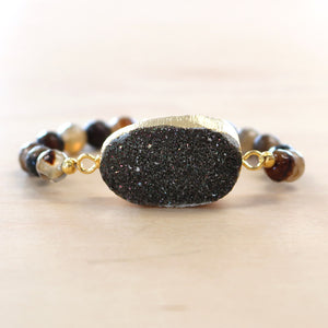 The Daisey - Semi-precious and Gold Plated Druzy Bracelet