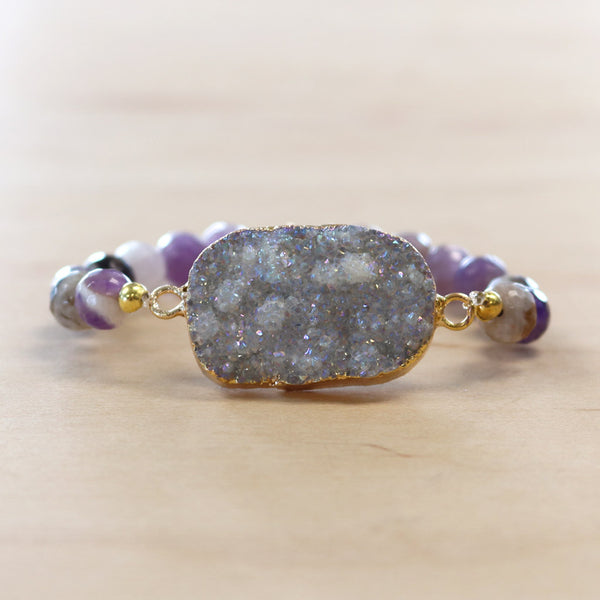 The Grace - Semi-precious and Gold Plated Druzy Bracelet