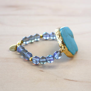 The June - Turquoise Stretch Bracelet