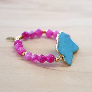 The Georgina - Pink Howlite Stretch Bracelet
