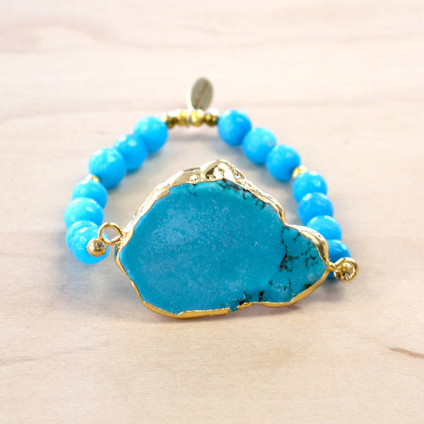 The Jane - Turquoise stretch bracelet