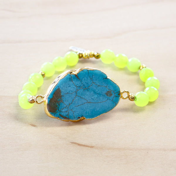 The Rae - Turquoise Howlite Stretch Bracelet