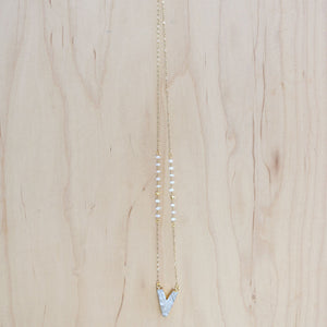 The Catherine -  Semi-Precious Chain with Druzy Quartz