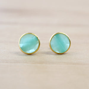 The Callie - Chalcedony Studs
