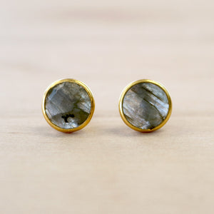 The Callie - Labradorite Studs