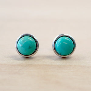 The Desiree - Silver Turquoise Studs