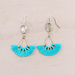 The Shawna - Semi-precious Tassel Earrings