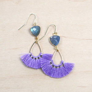 The Natty -  Semi-precious Tassel Earrings