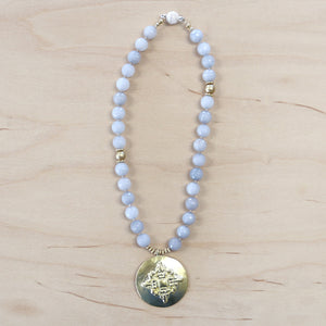 The Megan - Gray Jade and reversible Medalian Necklace