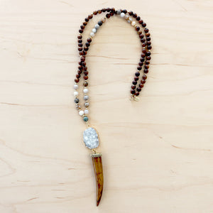 The Bonnie - Tusk Mala Necklace