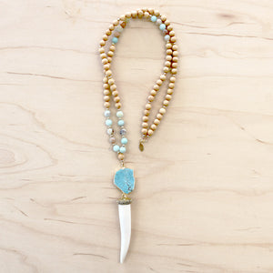 The Gabriella - Tusk Mala Necklace