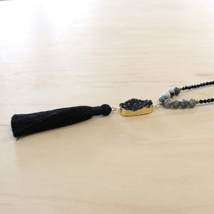 The Skylar - Semi-Precious Mala Necklace