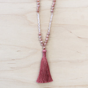 The Dana - Semi-Precious Mala Necklace