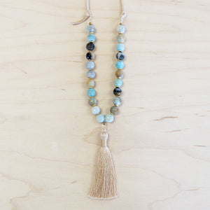 The Karina - Semi-Precious Mala Necklace