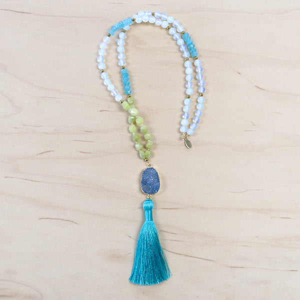 The Ariel  - Semi-Precious Mala Necklace