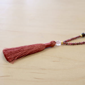 The Amalia - Semi-Precious Mala Necklace