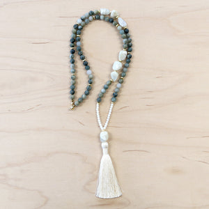 The Lula - Semi-Precious Mala Necklace