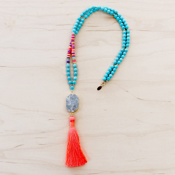 The Taylor  - Semi-Precious Mala Necklace