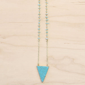 The Serena- Semi-precious Turquoise Necklace