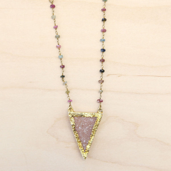 Kassie - Semi-Precious Cluster Chain with Druzy Quartz