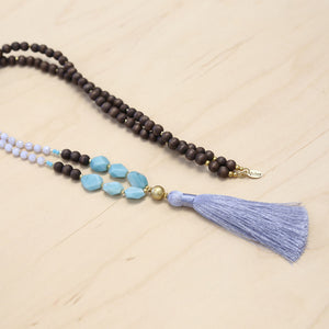 The Scarlett - Amazonite Semi-Precious Mala Necklace