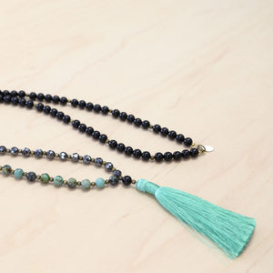 The Serena - African Turquoise Semi-Precious Mala Necklace