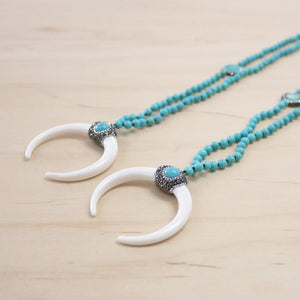 The Willow - Howlite & Bone Necklace
