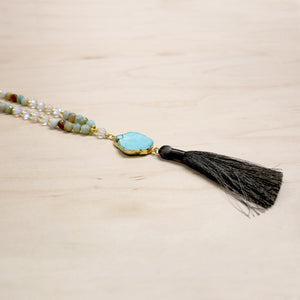 The Amelie - Semi-Precious Mala Necklace