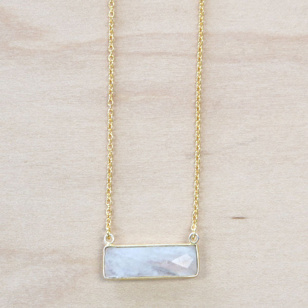 The Emma - Moonstone Bar Necklace