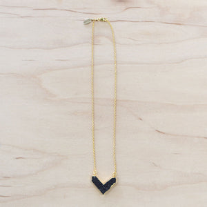 The Lisa - Druzy Chevron Necklace