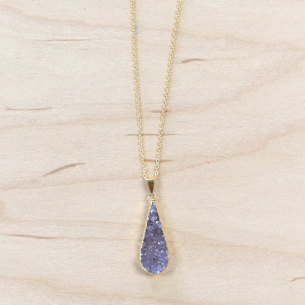 The Remy  - Druzy Quartz Necklace