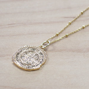 The Sawyer  - Gold Coin Pendant Necklace