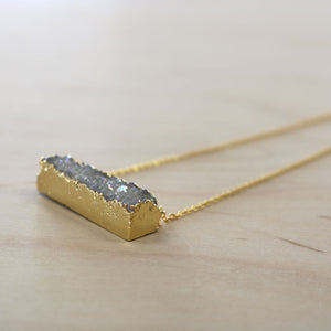 The Noel - Druzy Quartz Necklace