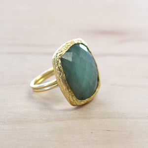 The Kaylee - Semi-Precious Amazonite Ring