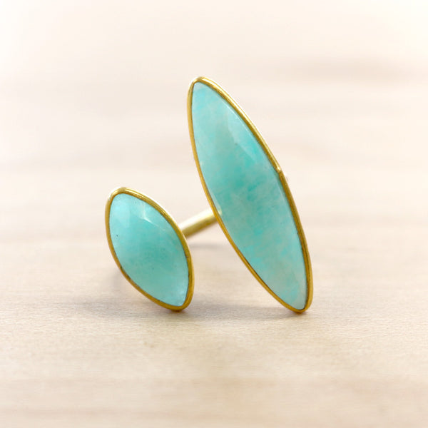 The Eve - Chalcedony Ring - Gold