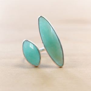 The Eve - Chalcedony Ring - Silver