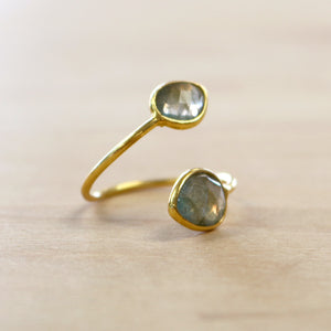 The Anya - Labradorite Ring