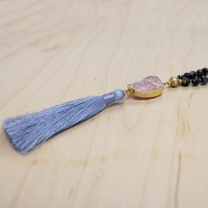 The Kinsley - Semi-Precious Mala Necklace